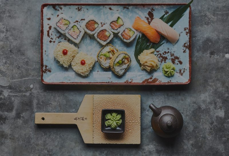 Assorted sushi at Koi Abu Dhabi