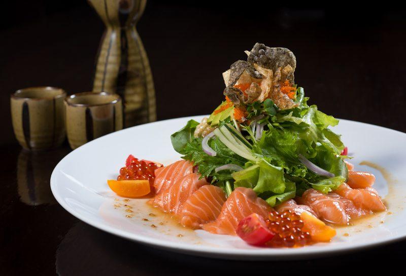 Salmon appetizer at Koi Bangkok