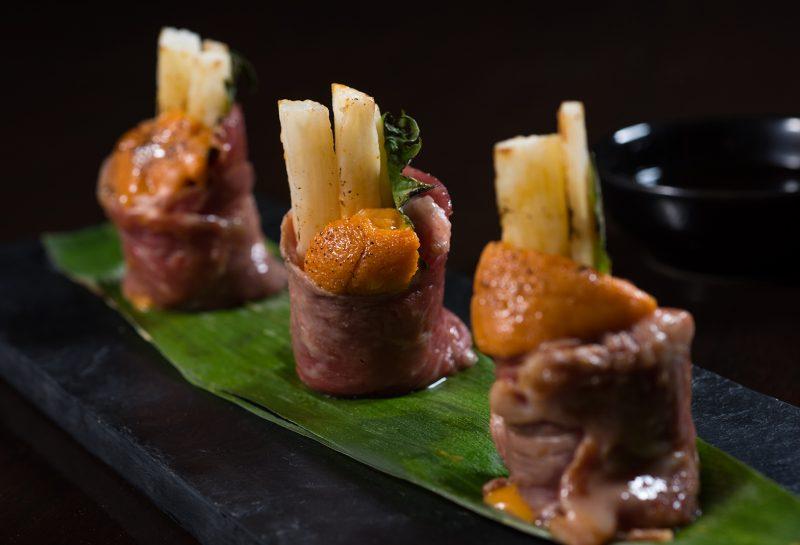Kobe beef appetizer at Koi Bangkok